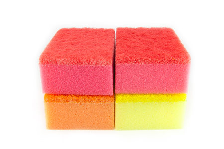 scour: Sponge scouring pads on an isolated white background