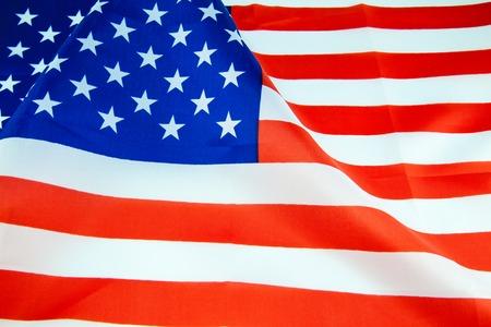 bandera blanca: Estados Unidos de Am�rica en el pabell�n. imagen Foto de archivo