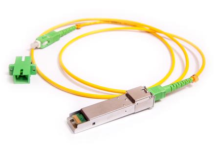 Optical gigabit SFP module for network switch Stock Photo