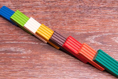 Photo childrens colored plasticine. Materials for creativity. 写真素材