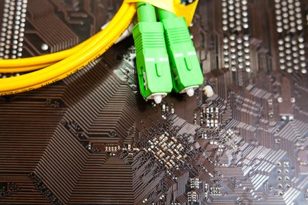fiber optic patch cord 写真素材