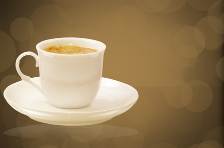 Coffee cup on beautiful background photo
