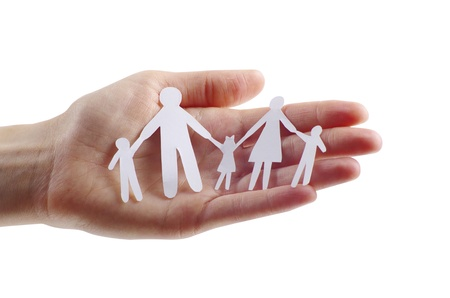 paper family in hands Stock Photo - 12415865