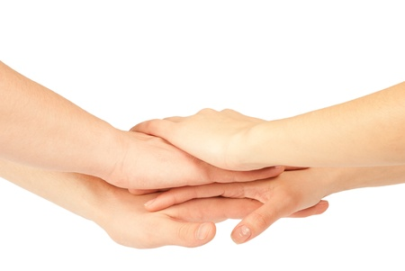 Hands on top of each other. Symbolic picture. Stock Photo - 12415804