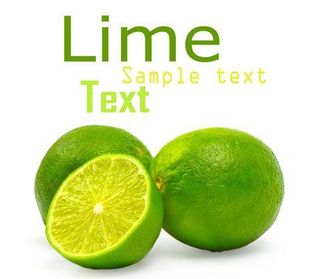 lime isolated on white background photo