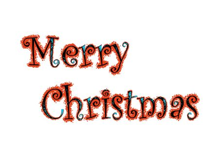 Merry Christmas Lettering photo
