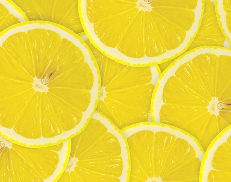 Abstract background with citrus-fruit of lemon slices  Close-up  Studio photography