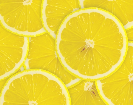Abstract background with citrus-fruit of lemon slices  Close-up  Studio photography  photo
