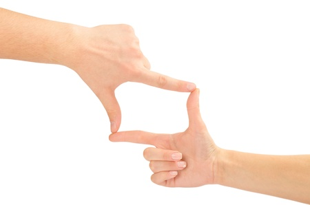 Hands in the shape of frame photo