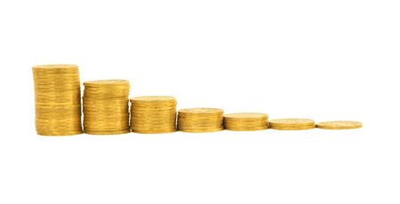 chinks: graph of the columns of coins isolated on white background