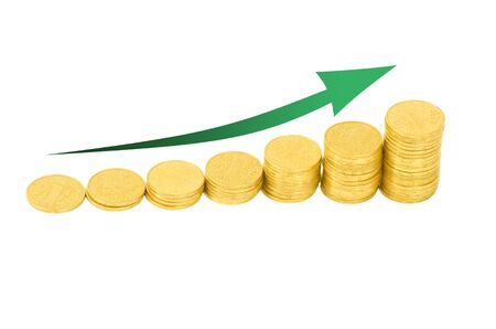 graph of the columns of coins Stock Photo - 12747370