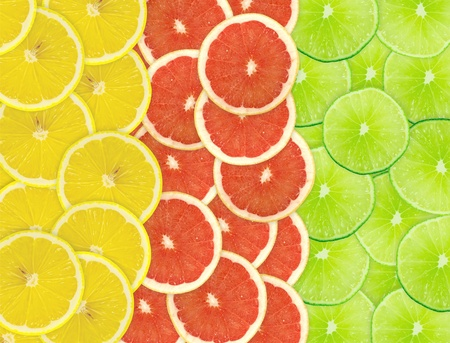 Abstract background of citrus slices. Closeup. Studio photography. Stock Photo