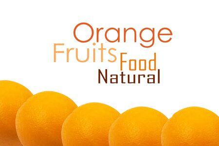 orange background isolated on white photo