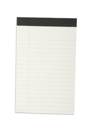 Blank one face white paper notebook vertical Stock Photo - 12834467