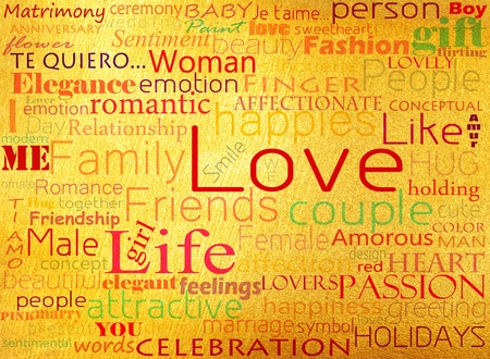 Seamless pattern made from words which relate with word love Stock Photo - 13005987