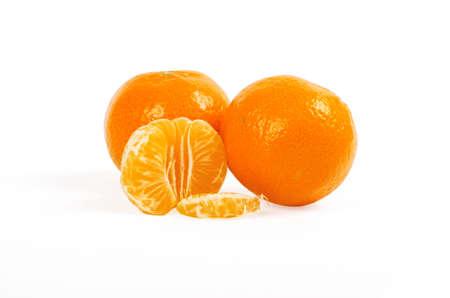 Mandarin isolated on white background Stock Photo - 13129825