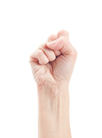 Fist. Gesture of the hand on white background. Stock Photo - 13151517