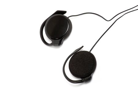 joy pad: earphones isolated on white Stock Photo