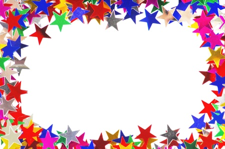 rectangle frame: Colored stars background for your text on photo, and other  Stock Photo