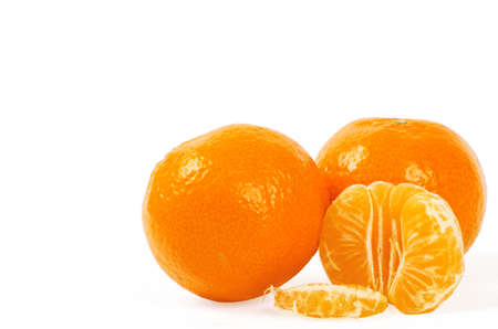 Mandarin isolated on white background Stock Photo - 13313867