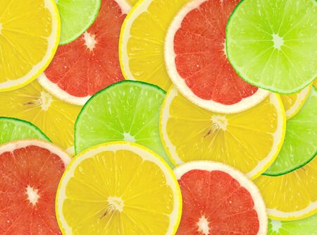 Abstract background of citrus slices. Closeup. Studio photography. photo