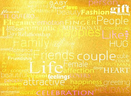 Seamless pattern made from words which relate with word love Stock Photo - 13356038