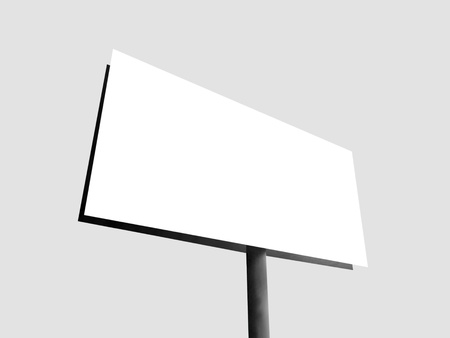 Blank billboard for your advertisement photo
