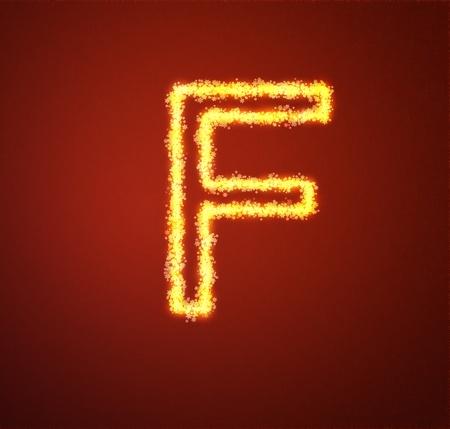 Gold star alphabet letter F  Stock Photo - 13450028