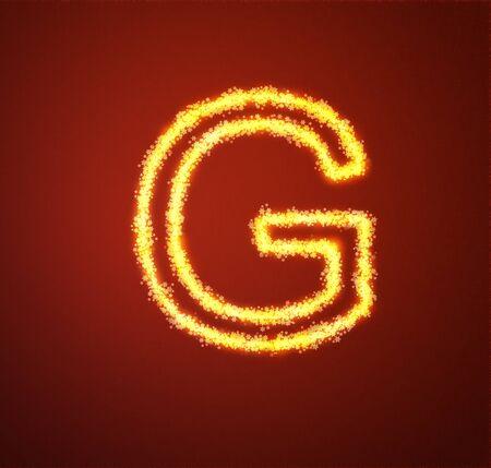 Gold star alphabet letter G  photo