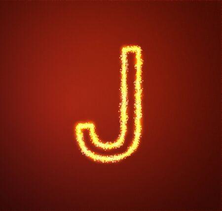Gold star alphabet letter J  Stock Photo - 13450008