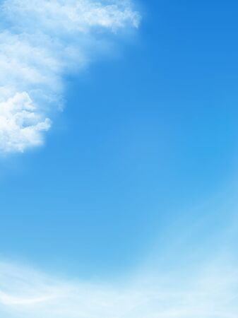 blue sky is covered by white clouds photo