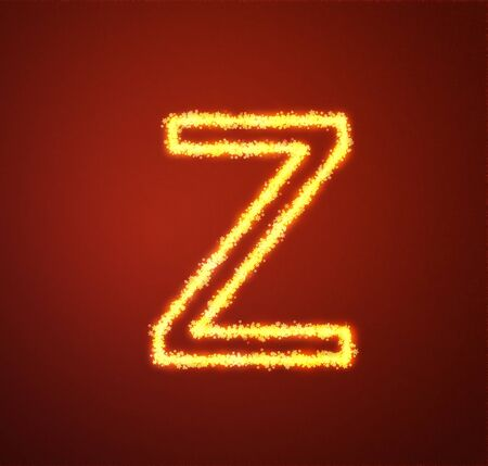 Gold star alphabet letter Z  photo