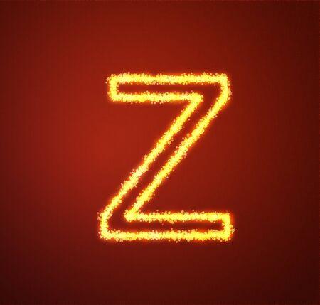 Gold star alphabet letter Z  photo