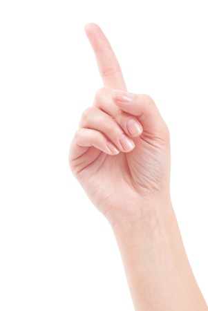 Hand with index finger, isolated on a white background Stock Photo - 13564758