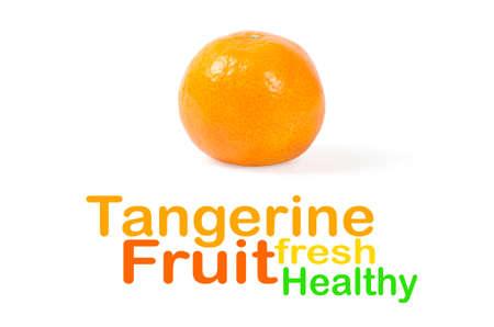 Mandarin isolated on white background Stock Photo - 13564759