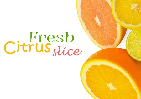 Citrus fresh fruit isolated on a white background photo