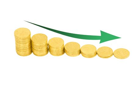 graph of the columns of coins Stock Photo - 13651283