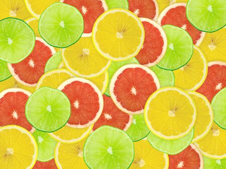 Abstract background of citrus slices. Closeup. Studio photography. Stock Photo - 13755821