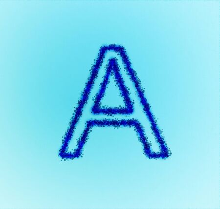 Gold star alphabet(letter A) photo