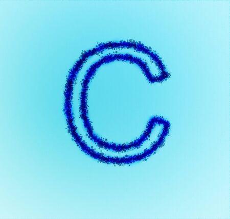 Gold star alphabet(letter C) photo