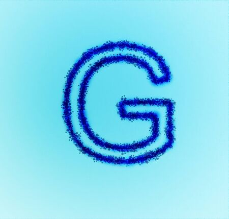 Gold star alphabet(letter G) Stock Photo - 13857466