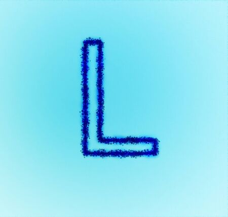 Gold star alphabet(letter L) photo