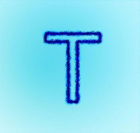 Gold star alphabet(letter T) photo