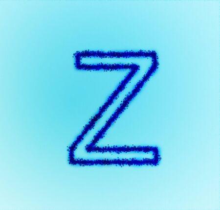 Gold star alphabet(letter Z) photo