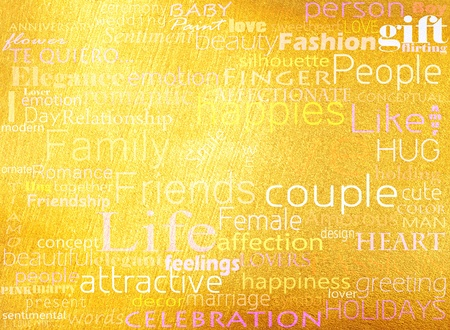 Seamless pattern made from words which relate with word love photo
