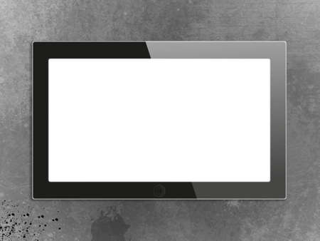 Black generic tablet pc, 3d render. Stock Photo - 14289632