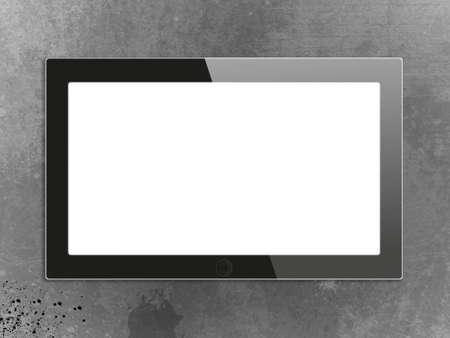 Black generic tablet pc, 3d render. Stock Photo - 14289632