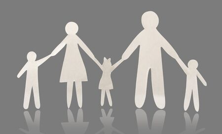paper family Stock Photo - 15198098