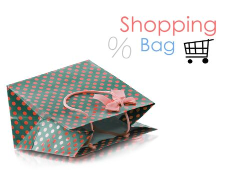 isolaten: Beatiful shopping bag isolaten on white background Stock Photo