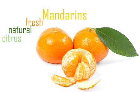 Mandarins isolated on white background Stock Photo - 15218068